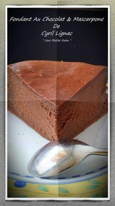 Chocolate Fondant & Mascarpone By Cyril Lignac - Dessert - Coffee Recipes Cheesecake Recipes, Cupcake Recipes, Cupcake Cakes, Dessert Recipes, Cupcakes, Caramel Recipes, Chocolate Recipes, Chocolate Fondant, Chocolate Cake