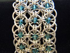 swarovski chainmaille bracelet - absolutely gorgeous, the intricate design work is amazing!
