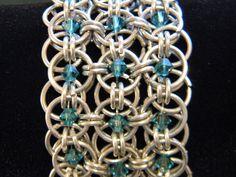swarovski chainmaille bracelet