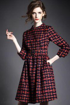 ファッションヨーロッパ2015秋新レディースファッション 気質セレブ七分Aーラインワンピースは格安とか人気のものなどいろいろな種類があり、ここで。一番のサービスと最高品質の商品Doresuweで提供しています。