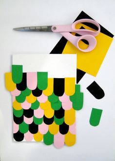 kelly green + gold + pink + black (or try charcoal gray? or forest green instead of kelly?)  Little Helsinki