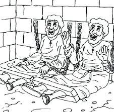Paul and Silas Coloring Pages- Acts 16:22-26 Paul and