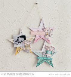 Cheeky Monkey, Cheeky Monkey Die-namics, Stitched Star STAX Die-namics - Anna Kossakovskaya #mftstamps