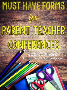 http://www.teacherspayteachers.com/Product/Parent-Teacher-Conference-Forms-FREEBIE-1482952
