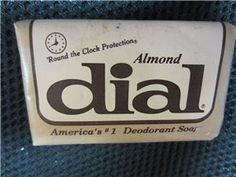 Vintage Almond Dial Soap Bar Sealed America's #1 Deodorant Soap Round the Clock Protection #kookykitsch