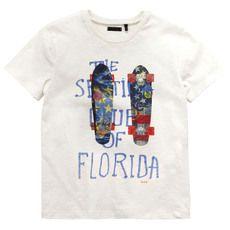 Ikks - Tee-shirt en jersey flammé ivoire - 71080