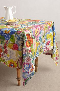 Cimbrone Tablecloth #anthropologie - oooh, how I love this fabric!
