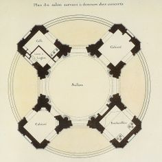 French Pavilion Plan at Versailles, architect Gabriel