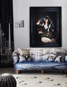 Sofá Artístico y Elegante, Muebles de Diseño 1