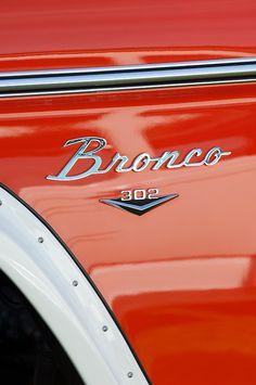 1972 Ford Bronco Emblem by Jill Reger