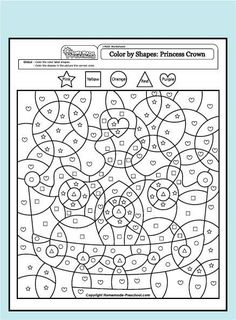 Color By Number Sand Castle Art Projects Numbers for