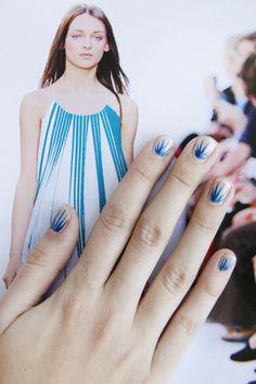 Nail art inspired by runway fashion
