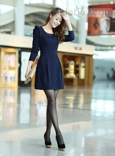 Korean Fashion – How to Dress up Korean Style – Designer Fashion Tips Dress Outfits, Casual Dresses, Cool Outfits, Short Dresses, Casual Outfits, Fashion Dresses, Sweater Dresses, Asian Fashion, Look Fashion