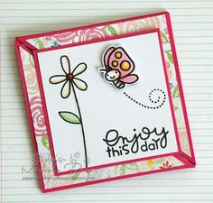 Learn how to make a trifold card with this fast & fun tutorial. Small hidden magnets hold the card closed, creating a bit of added mystery.