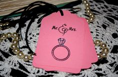 Mr. & Mrs. Gift Tags  Wedding Bridal Shower Hand by Booksonblocks, $3.95