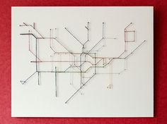 Check out this London Tube map made from nails and string. I think this would make a great housewarming gift to a friend moving to your city, and from the