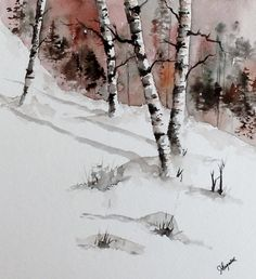 Original Watercolor Painting Maine Landscape by pinetreeart, $60.00