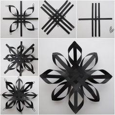 DIY Paper Weave Snowflakes Tutorial
