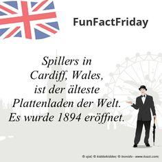 #FunFactFriday bei THE BRITISH SHOP: Spillers in Cardiff, Wales, ist der älteste Plattenladen der Welt. Er wurde 1894 eröffnet.