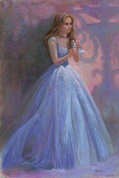 """Glass Slipper"" by Lisa Keene   Disney Fine Art   Disney's Cinderella"