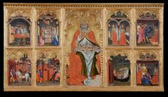 San Gimignano enthroned with eight stories of his life