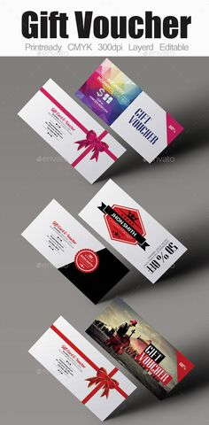 Multi Use Gift Voucher Bundle Template #design Download: http://graphicriver.net/item/multi-use-gift-voucher-bundle/12632183?ref=ksioks