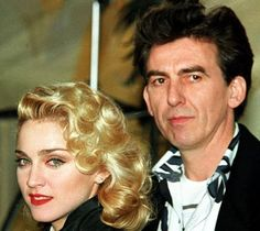 George and Madonna...unknown year.  Found on FB.