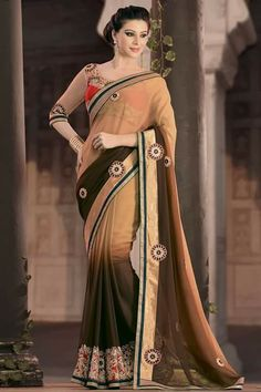 # designer # sarees @ http://zohraa.com/beige-faux-georgette-saree-ay- sr-ag-6016.html # celebrity # zohraa # onlineshop # womensfashion # womenswear # bollywood #look # diva # party # shopping # online # beautiful # beauty #glam # shoppingonline # styles # stylish # model # fashionista # women # lifestyle #fashion # original # products # saynotoreplicas