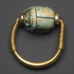A Ring with a Scarab of Thutmosis III