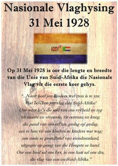 Union Of South Africa, South African Flag, South Afrika, Afrikaanse Quotes, Empowering Quotes, My Childhood Memories, African History, Educational Activities, History Facts