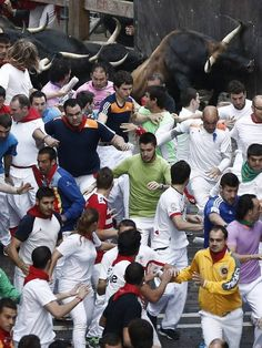 Pamplona Running of the Bulls 2014: Seven people injured on fifth day of annual festival - THE INDEPENDENT #Pamplona, #Spain, #BullsRun