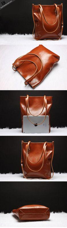 Handmade Leather tote bag shoulder bag brown black for women leather shopper Shoulder bag