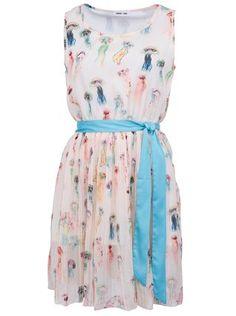 GINGER+SOUL - Světle meruňkové šaty s potiskem medúz - 1