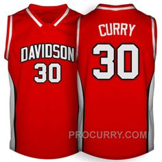 uk availability 5f857 52fa3 Davidson College Wildcats  30 Stephen Curry Red Jersey Pumas Shoes, New  Jordans Shoes,