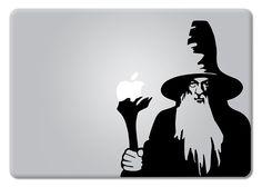 Amazon.com: Gandalf Lord Of The Rings Apple Macbook Laptop Decal Vinyl Sticker Apple Mac Air Pro Retina: Computers & Accessories