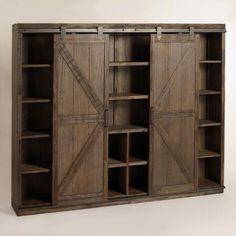 http://www.worldmarket.com/product/wood farmhouse barn door bookcase.do?