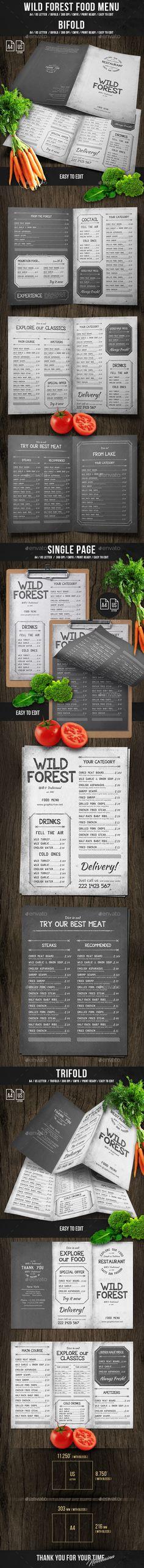 Wild Forest Food Menu Bundle