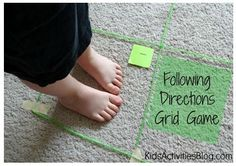 Therapy Activity of the Week: Following Directions / Map Skills Activity Grid Game  - Pinned by @PediaStaff – Please Visit  ht.ly/63sNt for all our pediatric therapy pins