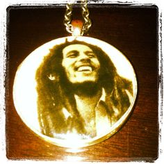 Bob Marley necklace by Deep Cove Resin