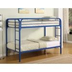 Coaster Furniture - Fordham Blue Twin Over Twin Metal Bunkbed - 2256B  SPECIAL PRICE: $404.00