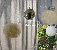 recyclage /  sac plastique / pompon Grains, Decoration, Blog, Pom Poms, World Animals, Recycling, Decor, Deko, Embellishments