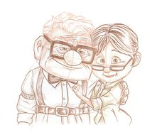 Carl and Ellie from Disney•Pixar's 'Up' Included in the New Park Icon Sketch Collection Debuting at Disneyland Park