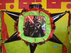 """Pinata Star Wars Darth Vader, Darth Maul, General Grievous /Piñata Hand Crafted 26x26x12[Holds 2-3 Lb. Of Candy][For Any Occasion] Alternative Art! . $32.99. This Pinata measures:   Length= 26""""   Height= 26""""   Width=  12""""  Hand Crafted Beautifully Detailed Traditional Cone Star shaped Piñata /Pinata with opening on top for stuffing candy's, toys and other items of your choice.  Pinata is Sturdy enough to hold 2-4 pounds of goodies.  This is th..."""