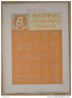 Lettres et Enseignes Art Nouveau - 1ère Série - Etienne Mullier (1900) - Pl 2 Lettres droites a jambages irréguliers