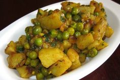 Aloo Matar A delicious Punjabi side dish with peas and potatoes.