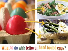 Things to make with leftover hard-boiled eggs: various salads, sauce for asparagus, Chinese tea eggs, cookies... (okay, so the cookies aren't low carb)