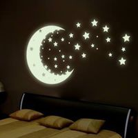 remembering my childhood bedroom everyone had a moon and stars somewhere mine was on a lamp - now how to recreate it