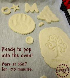 Salt dough for bird cake toppers