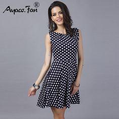 63e61140070e Vintage Dress 2018 Summer New Sleeveless O-neck A-Line vestidos Women  Elegant Thin
