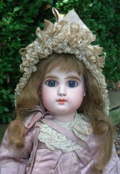 """French Bebe Mascotte by  May Freres . She is marked Mascotte H. She stands 17"""" tall. C1888"""